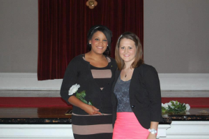 Emily Thole and me at my ceremony, Fall 2012