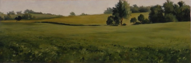 """""""Soybean Field"""" by Margaret von Kaenel, on exhibit in the McKendree University Gallery of Art for """"Get Out! Paint Out!"""""""