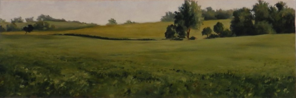 """Soybean Field"" by Margaret von Kaenel, on exhibit in the McKendree University Gallery of Art for ""Get Out! Paint Out!"""