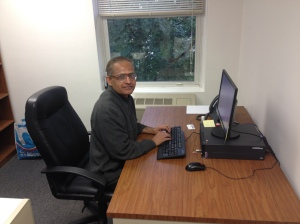 Dr. Dutta in his new office.
