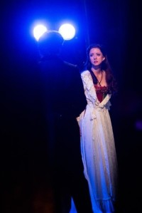 Actress Katie Travis with The Phantom