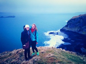 Liz (right) at the Isle of Seil