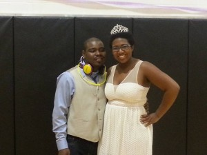 Charles Phillips and Lauren Reeves named McKendree's first Prince and Princess. Photo Credit: Craig Robertson