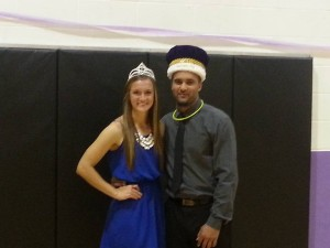 Cassie Kaiping was crowned queen.  Dewayne Gatti next to her was crowned king.