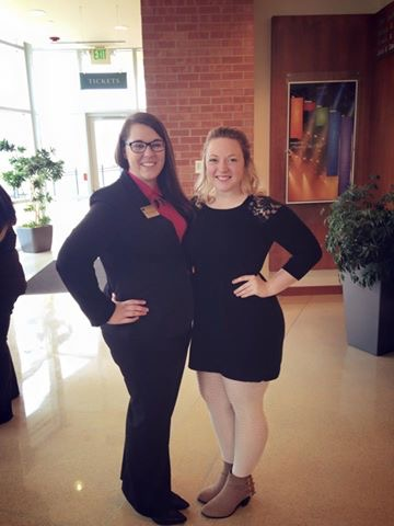 Shyla Miner and Chloe Thies representing CAB at a McKendree Preview day. Photo Credit: Chloe Thies