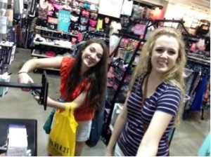 Pictured: Cecily May '18 and Grace McDowell '16 enjoying a day out shopping. Photo Credit: Grace McDowell