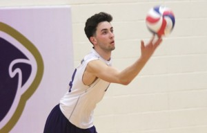 Rueter going to serve up a mean volleyball to the competition. Photo credit: McKendree University