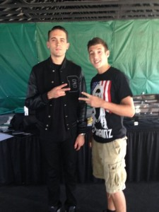 An overjoyed Job McKinney meeting G-Eazy for the first time at a special An overjoyed Job McKinney meeting G-Eazy for the first time at a special VIP event.