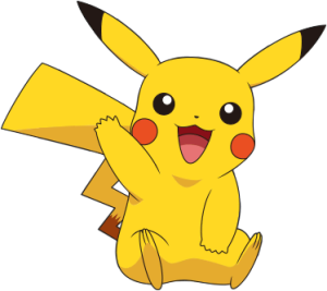 This cute little guy is called Pikachu! He is easily the most popular Pokemon.