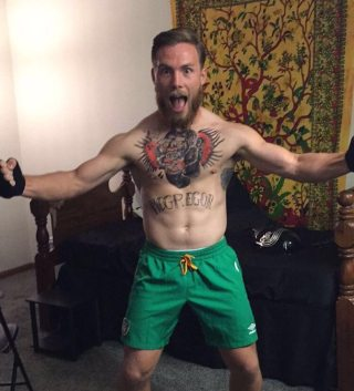 Dylan Cassidy as MIXED MARTIAL ARTIST CONOR McGREGOR.