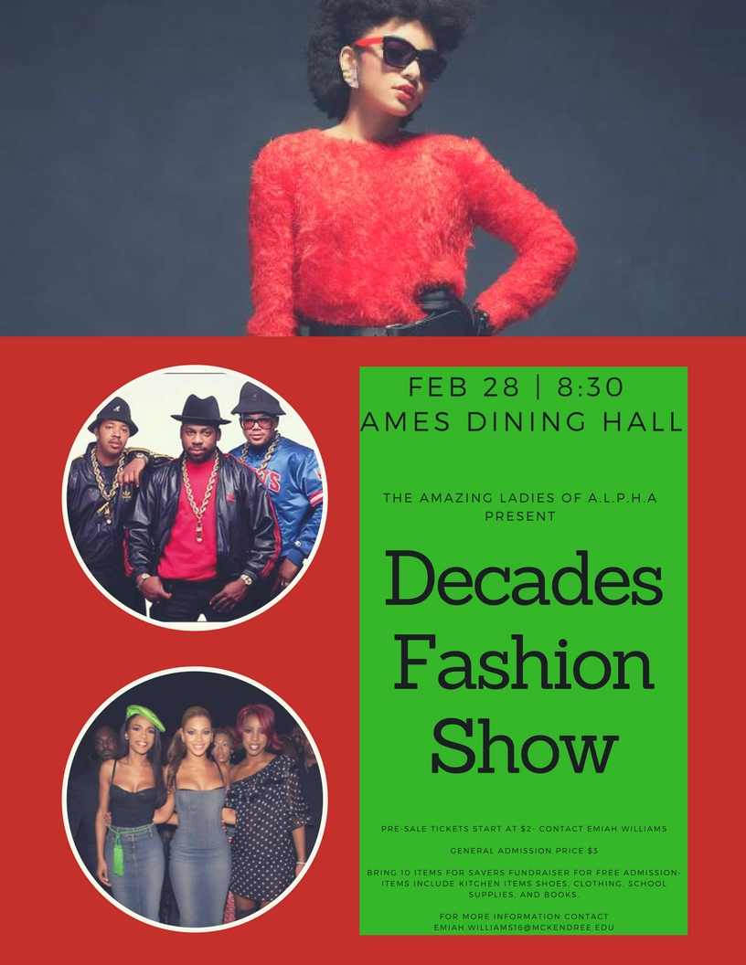 Alpha Fashion Show Fliers