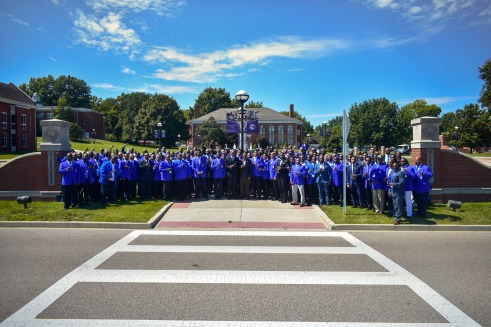 Phi Beta Sigma fraternity in 2019 at McKendree University